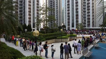 Jót tett a választásnak a hongkongi tüntetéssorozat