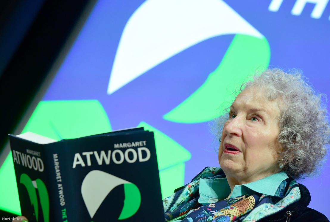 Margaret Atwood új könyvének londoni sajtótájékoztatóján 2019. szeptember 9-én
