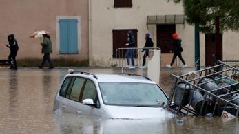 Négy halálos áldozata van az áradásoknak Dél-Franciaországban