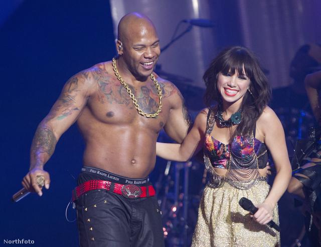 Flo Rida és Carly Rae Jepsen a Much Music Video Awards nevű díjkiosztón