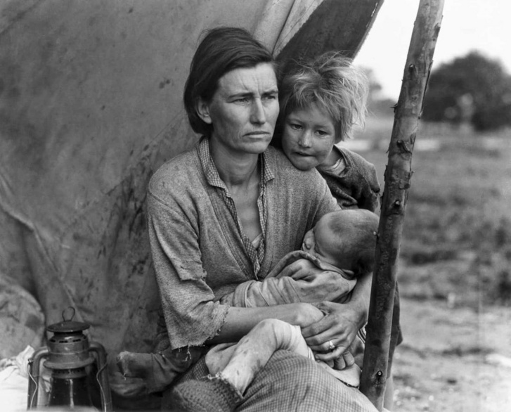 Florence Owens Thompson, Migrant mother