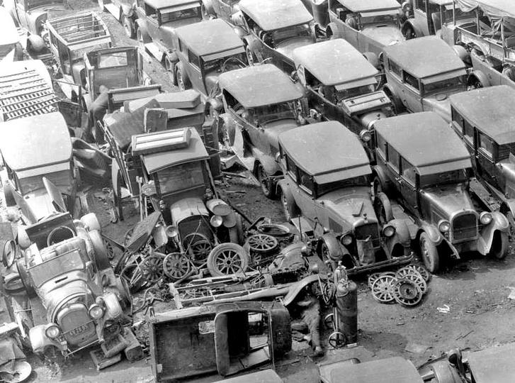 Model T-k enyésznek a 30-as években