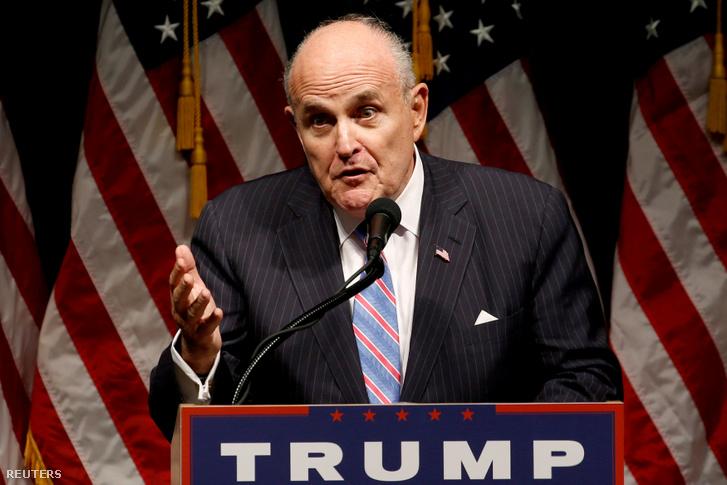 Rudy Giuliani, Trump egyik kampányrendezvényén 2016-ban