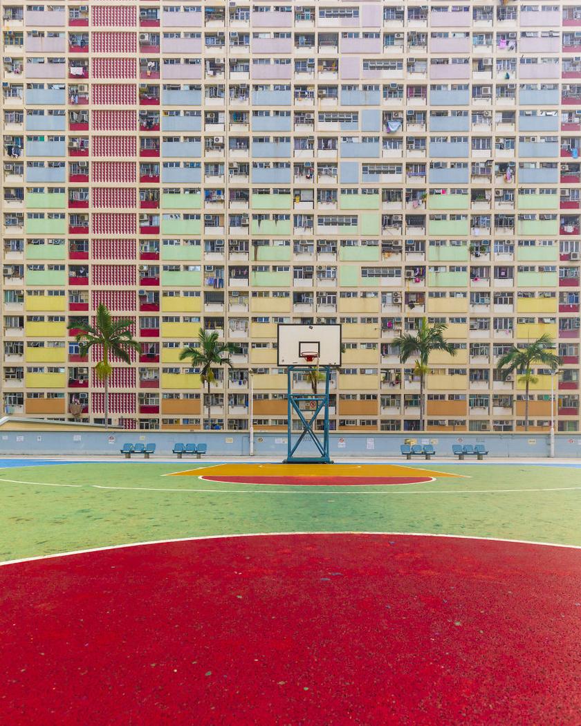 Choi Hung kosárlabdapálya.