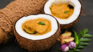 Egzotikus, ünnepi halétel: fűszeres, kókusztejes halcurry
