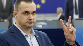 Átvette Szaharov-díját a politikai okokból börtönbe zárt ukrán filmrendező