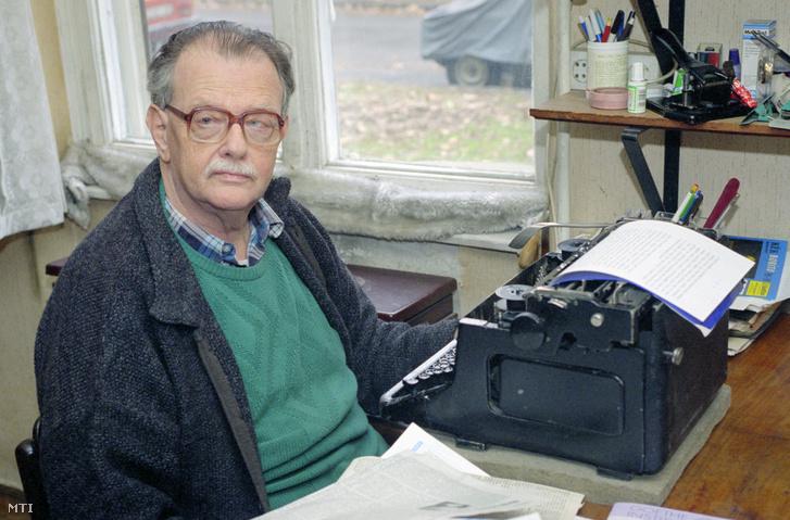 Del Medico Imre levelező munka közben írógépénél az otthonában. Ő az egyetlen olyan személy Magyarországon, aki sajtólevelezéséről lett ismert. Kb. 15-20 000 levelet írt, főképp pontosításokat különféle újságoknak.