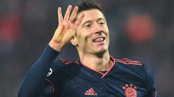 A Bayern-csatár beérte Messit második négygólos BL-meccsével