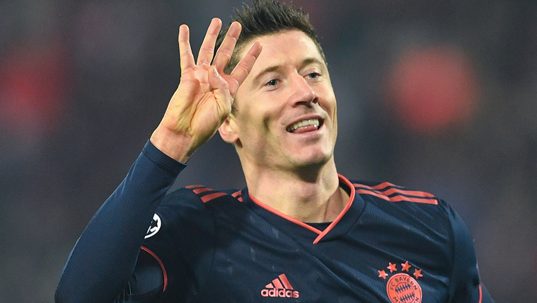 Robert Lewandowski négy gólt lőtt Crvena zvezdának a Bajnokok Ligájában