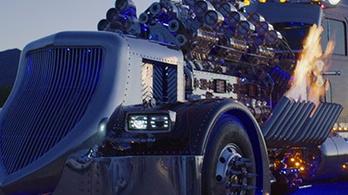 3,6 milliárdot ért a 24 hengeres kamion-szörnyeteg