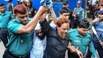 Terroristák segítőit ítélték halálra Bangladesben