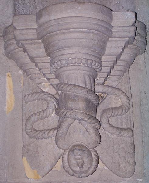 Az egyik szabadkőműves-szimbólum, a fejjel lefelé ábrázolt bukott angyal.