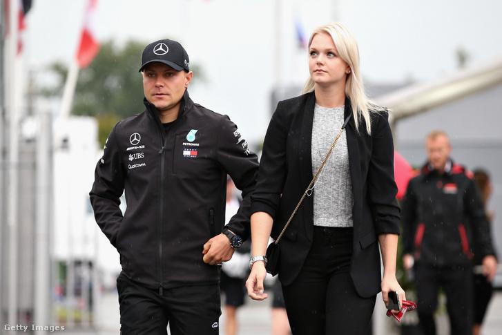 Valtteri Bottas és felesége Emilia