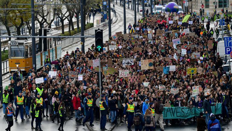 Élőben a IV. Globális klímasztrájkról