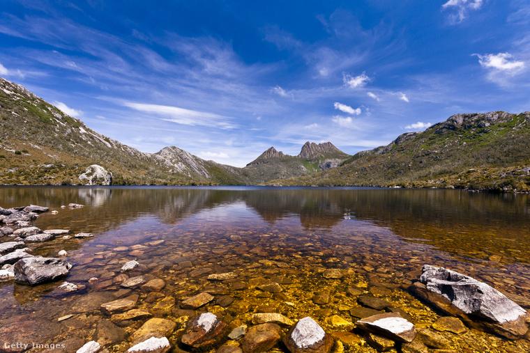Az 1545 méteres Cradle-hegy Tasmánia hatodik legmagasabb hegye