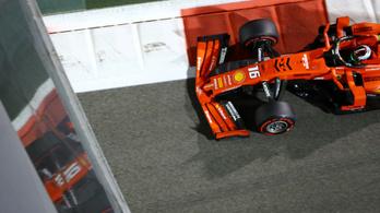 Vettel már az 1. edzésen falba állította a Ferrarit, Leclerc csak a másodikon