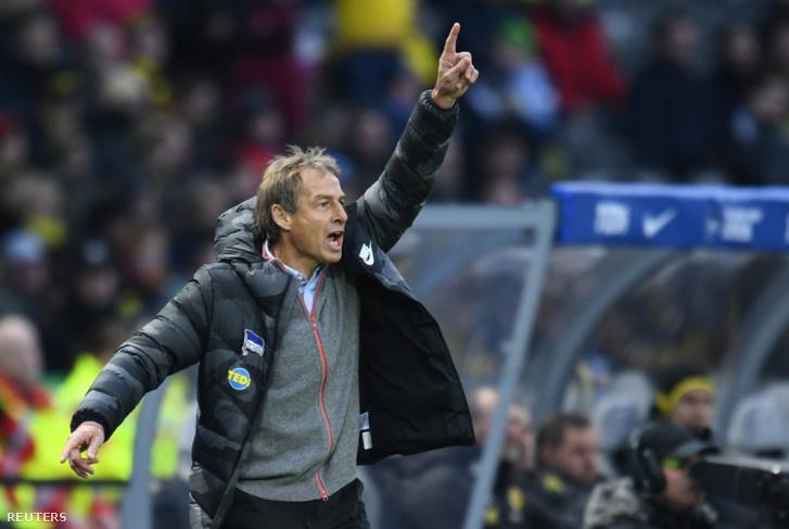 Klinsmann a szombati mérkőzésen