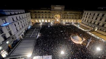 Több tízezer hering tüntetett az olasz jobboldal ellen
