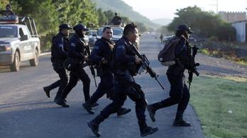 Durván összecsaptak Mexikóban a gengszterek a rendőrökkel