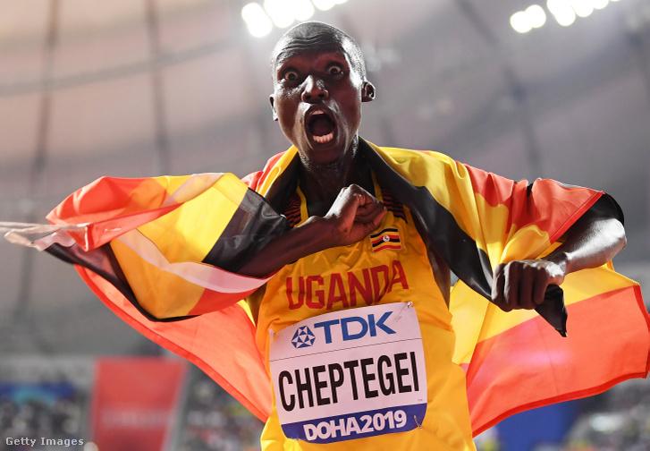 Joshua Cheptegei a dohai atlétikai világbajnokságon 2019. október 6-án