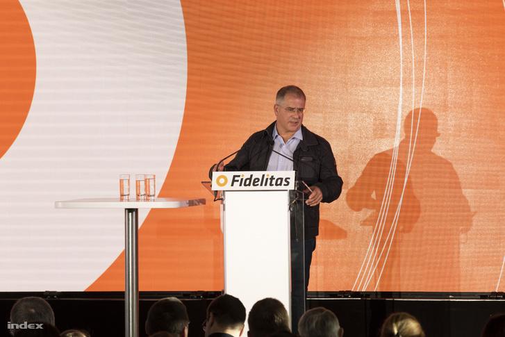 Kósa Lajos a Fidelitas rendezvényén