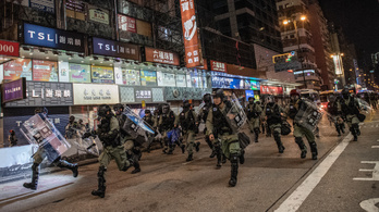 Megint véres zavargások voltak Hongkongban