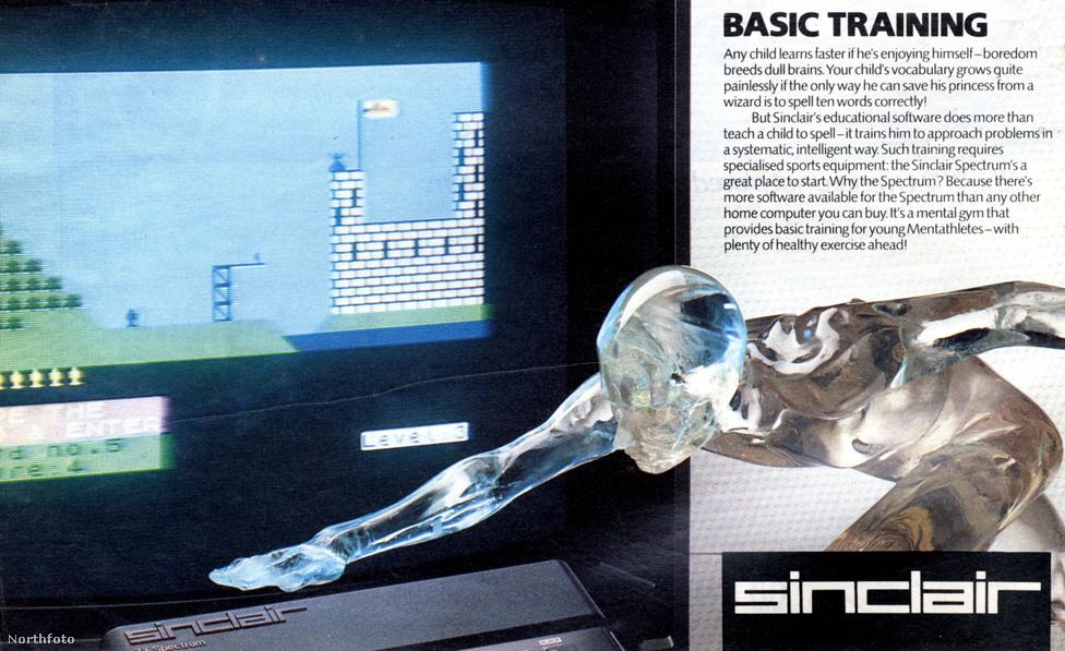1980-as évek: Sinclair ZX Spectrum számítógép hirdetés.
