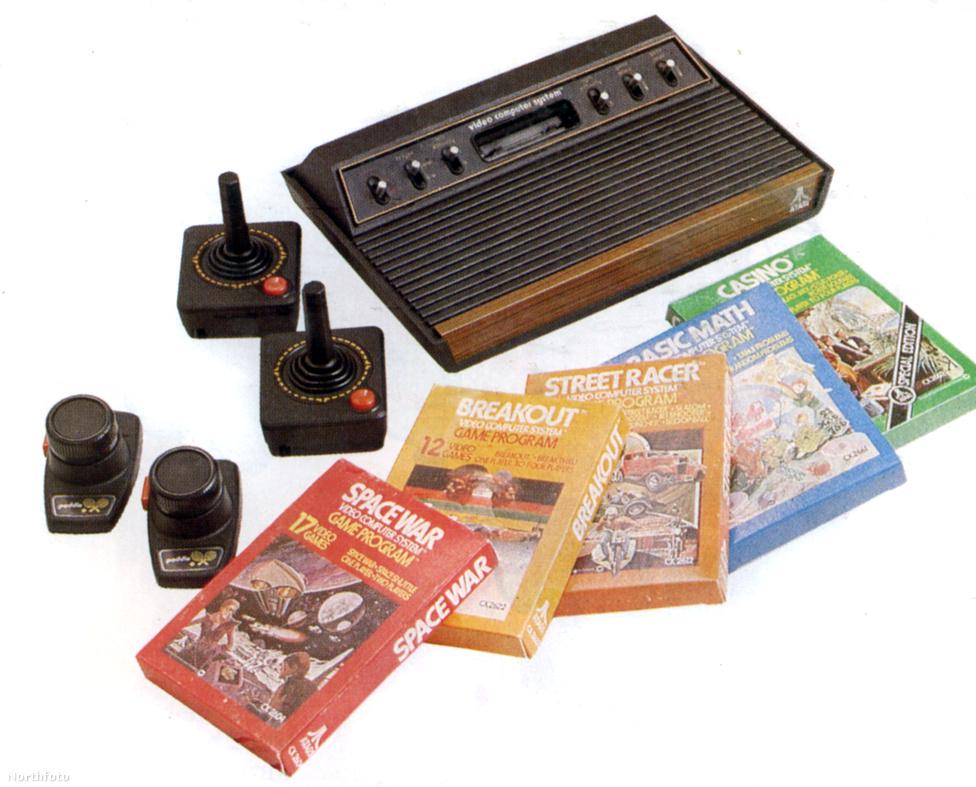 1979-80. Atari számítógép és a hozzá kiadott játékok. az 1972-ben alapított amerikai cég a számítógépes játékok úttörője volt.