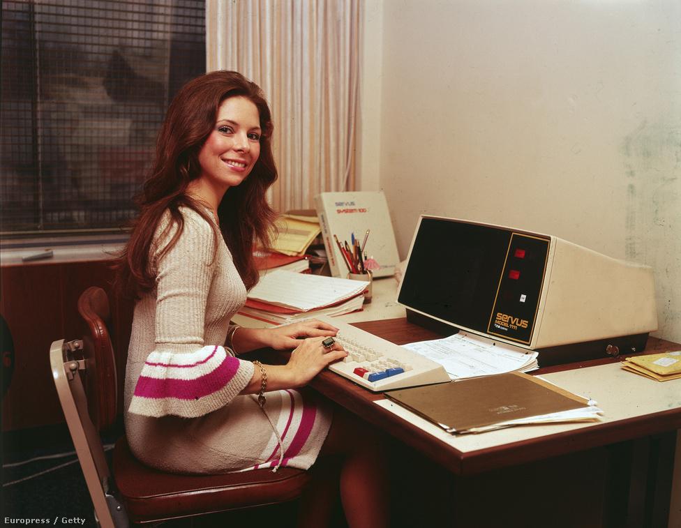1970. A Servus egyik korai asztali számítógépe mint munkaállomás.