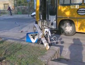 Petra babkocsija a baleset helyszínén