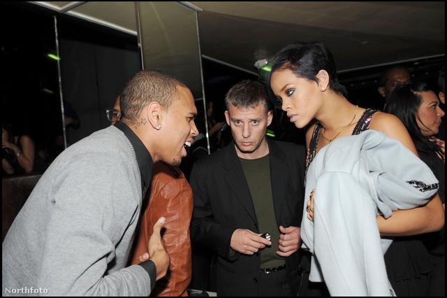 Brown és Rihanna John Galliano partiján 2008-ban