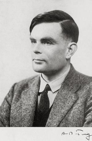 A fiatal Alan Turing.