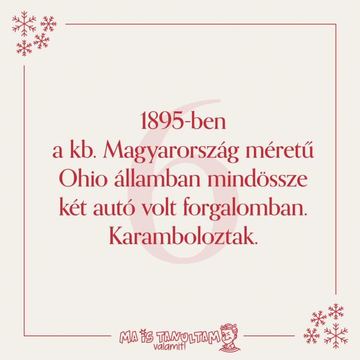 1895-ben a kb. Magyarország méretű Ohio államban mindössze két autó volt forgalomban. Karamboloztak.