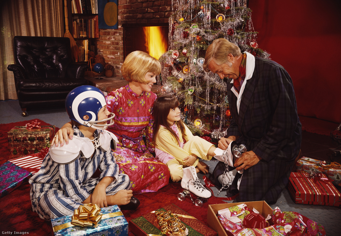 Családi ajándékozás az 1970-es évekből