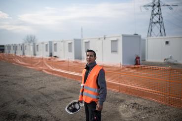 Balogh József, az építkezésen dolgozó magyar munkások egyike.
