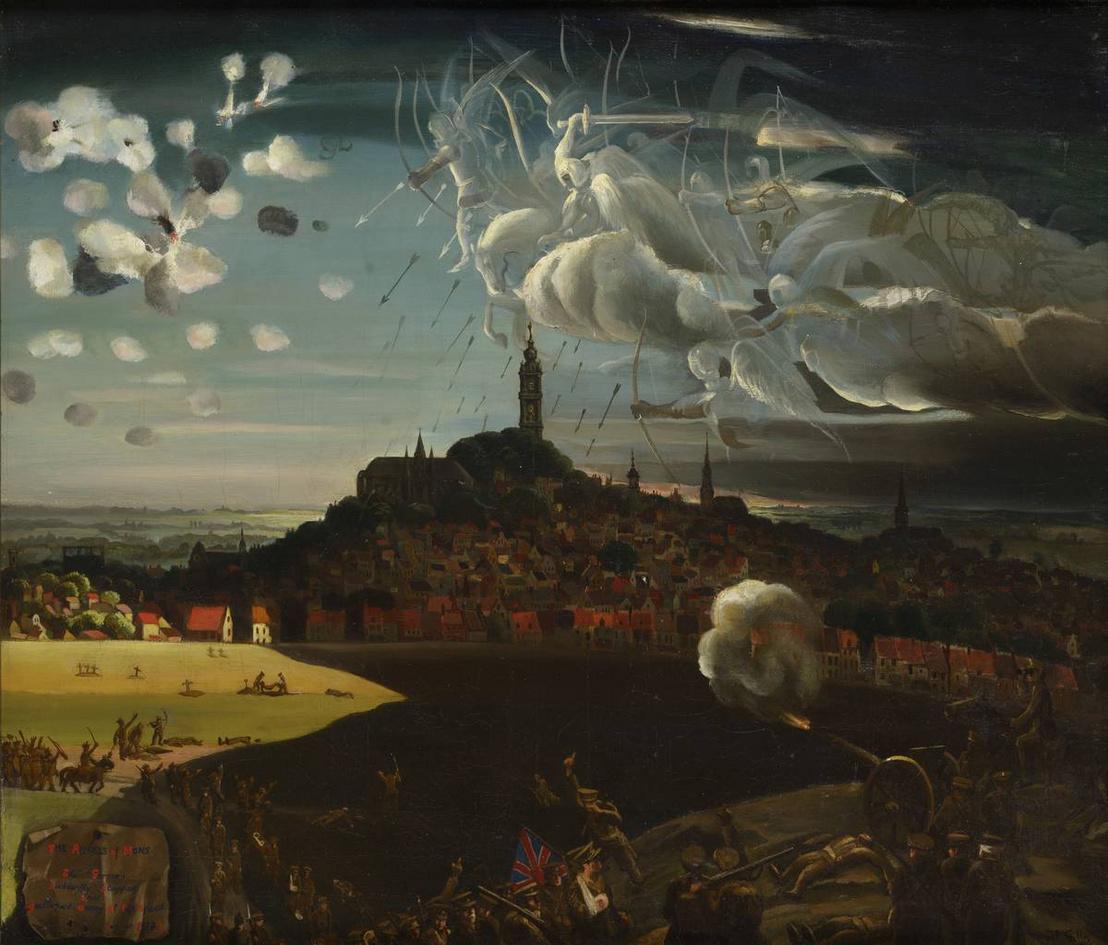Marcel Gillis monsi festő Mons angyalai című festménye