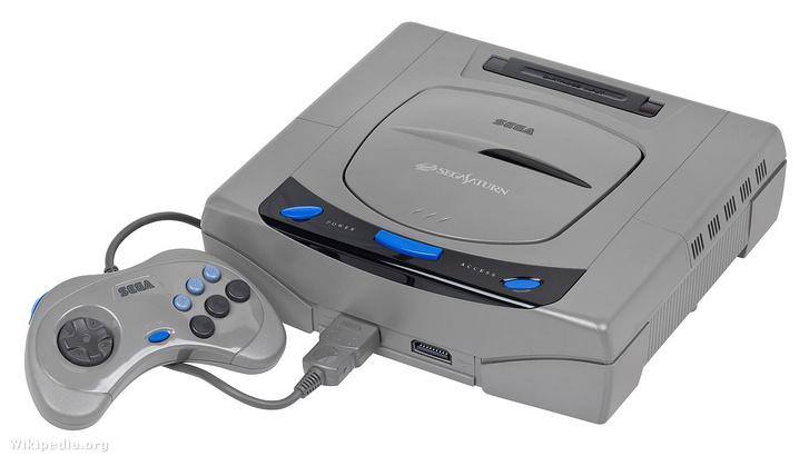 Egy első kiadású Japán Sega Saturn