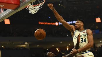 A Görög Szörny az NBA élére repítette a Milwaukee-t
