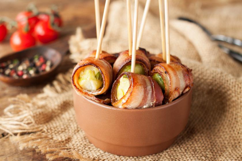 baconbe csomagolt kelbimbó recept