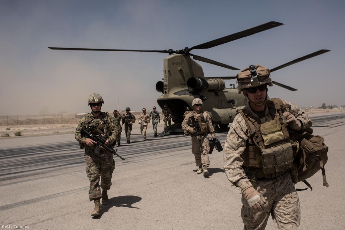 Amerikai katonák érkeznek Afganisztánba 2017 szeptemberében
