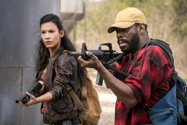A Fear The Walking Dead két szereplője. Az AMC sorozata, januártól a DIGI előfizetői nem láthatják.
