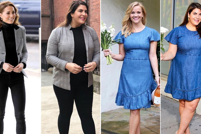 Milyen ugyanaz a ruha egy molett és egy vékony lányon? Nem kell soványnak lenni, hogy nőies legyél