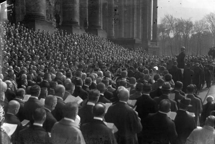 Berlini tüntetés a Ruhr-megszállás ellen 1923. március 25.