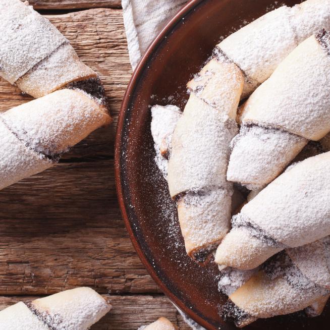 Rugelach, a legfinomabb zsidó sütemény: krémsajttól puha a tésztája