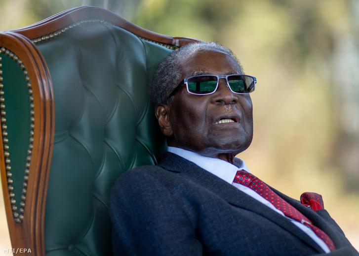 Robert Mugabe volt zimbabwei elnök 2018. július 29-én