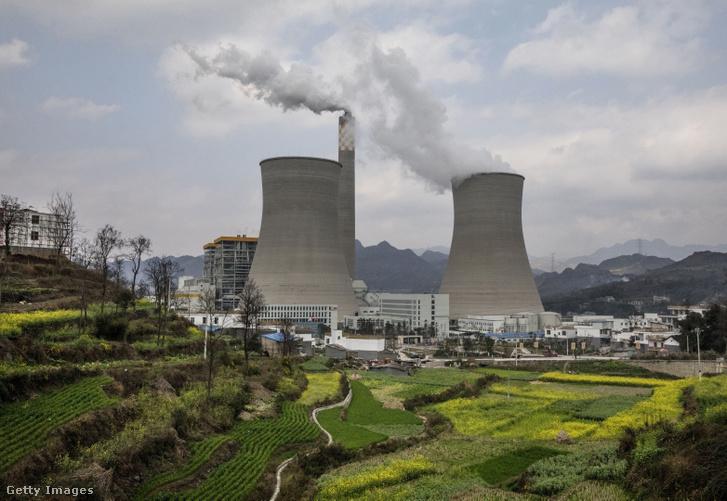 Egy 2017-ben épített dél-kínai szénerőmű