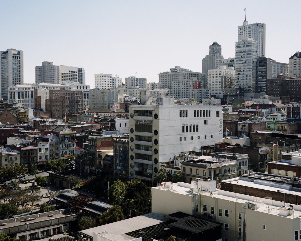 A kínai negyed látképe San Franciscóban.