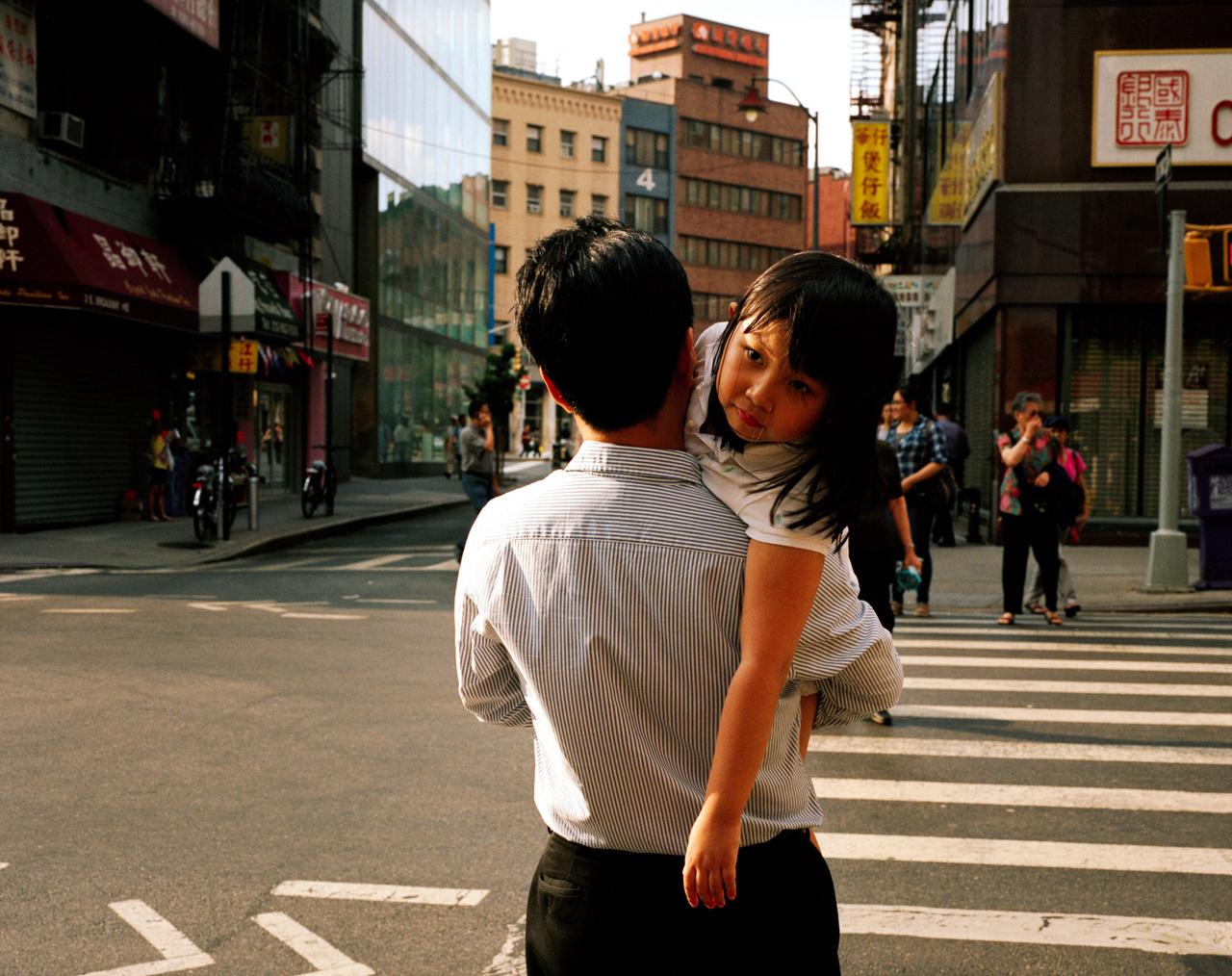 Nyár a kínai negyedben, New Yorkban.