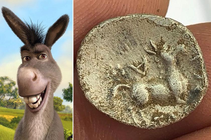 A Shrek szereplőjének a kiköpött mása van a 2 ezer éves pénzérmén: Szamár nézett vissza róla