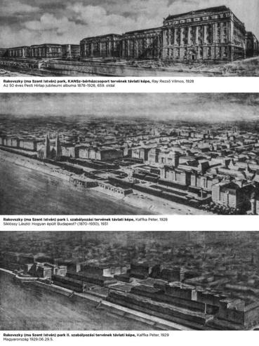 Rakovszky (ma Szent István) park, beépítési tervek, 1928–1929